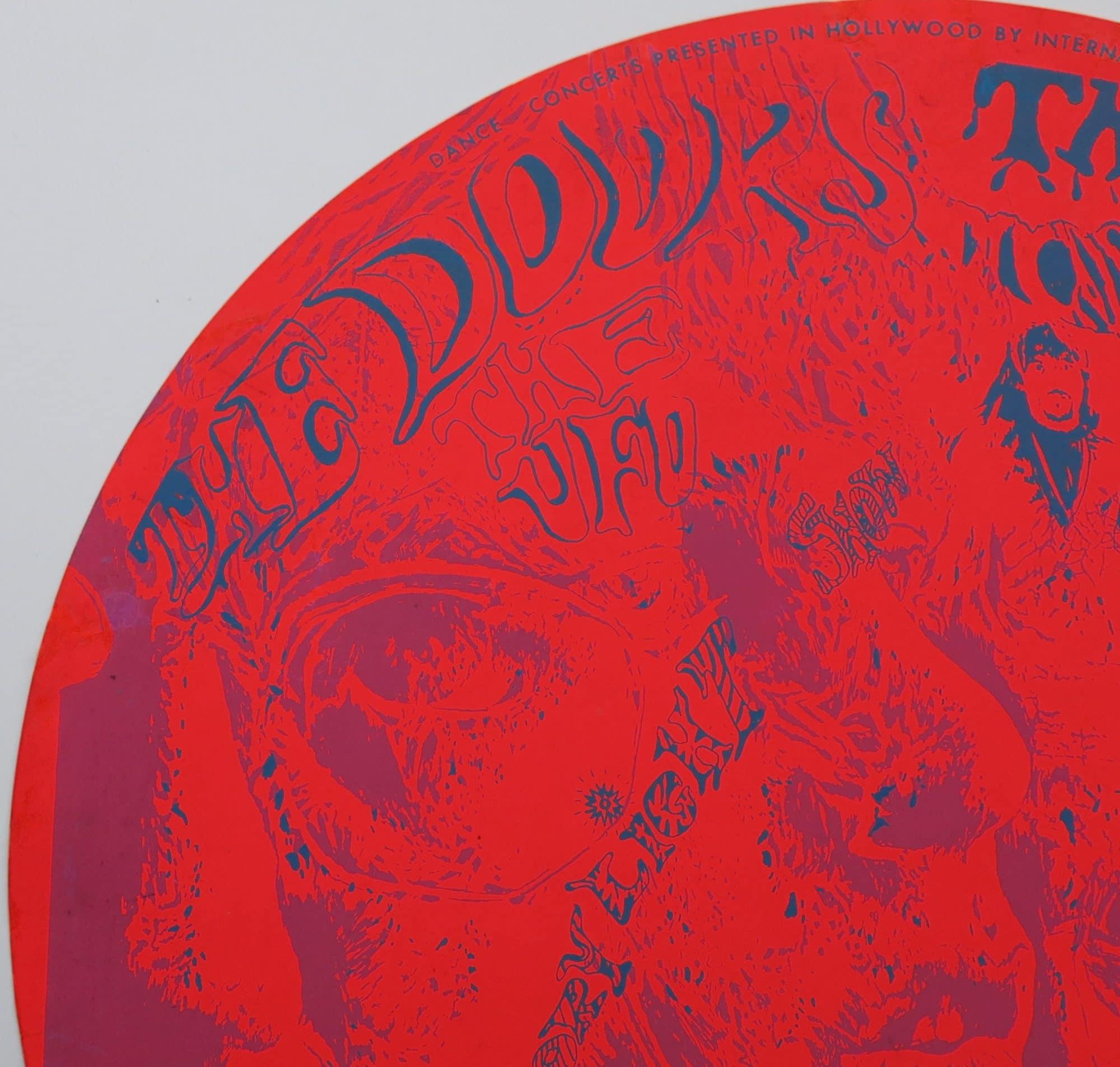 The Doors 1967 Kaleidoscope 2 Round Concert Poster
