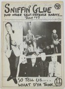 "The Clash – 1977 Fully Signed ""Sniffin' Glue"" Punk Zine"