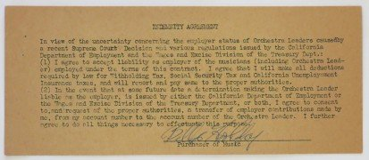 Billie Holiday – Signed Contract Amendment & Photograph
