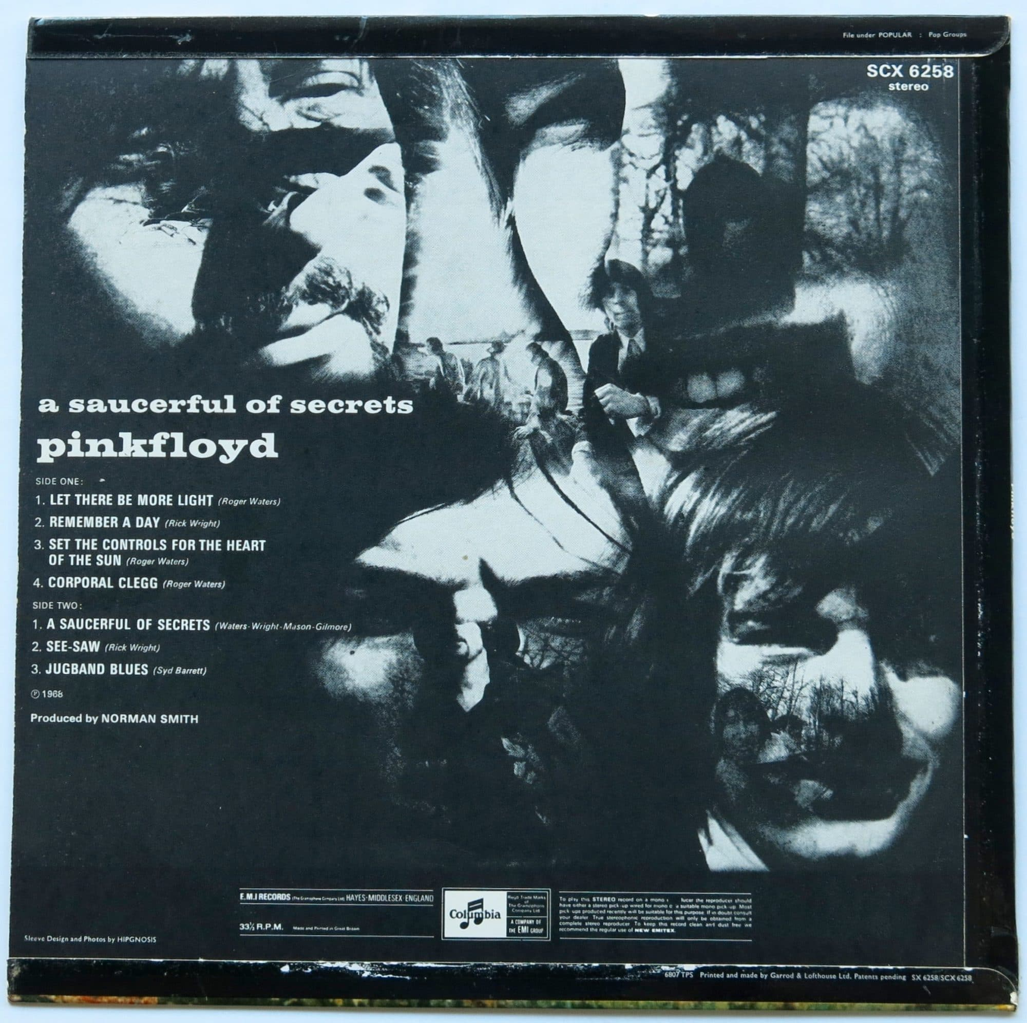 pink floyd � unplayed uk 2nd pressing �a saucerful of