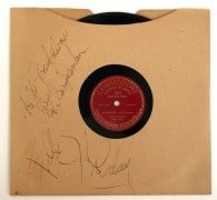 "Billie Holiday – Spectacularly Signed ""Strange Fruit"" 78"