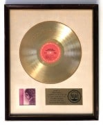 "Bob Dylan – ""Blood on the Tracks"" White Matte RIAA Gold Record Award"