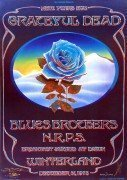 "Grateful Dead – ""Blue Rose"" 1978 Poster Signed By Mouse & Kelley"