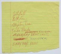 Neil Young – Handwritten 1983 Concert Set List