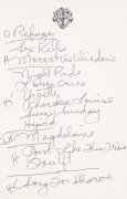 Joni Mitchell – Handwritten Set List From 1995 Gene Autry Theatre Show