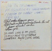"Neil Young – Handwritten Lyric Manuscript For ""Bad Fog of Loneliness"""
