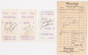 """Frank Zappa Mothers of Invention – Autographs / Pre-""""Freak Out"""" Signed Receipts"""
