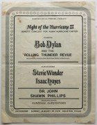 "Bob Dylan – 1976 ""Night of The Hurricane"" Concert Program &  Ticket Stub From Houston Astrodome"