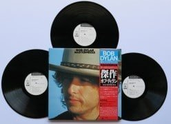 "Bob Dylan – Unplayed Japan White Label Promo ""Masterpieces"" 3 LP Set OBI Book Poster"