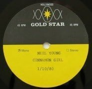 """Neil Young – Neil's Personal """"The Loner"""" and """"Cinnamon Girl"""" Mono Gold Star Acetates"""