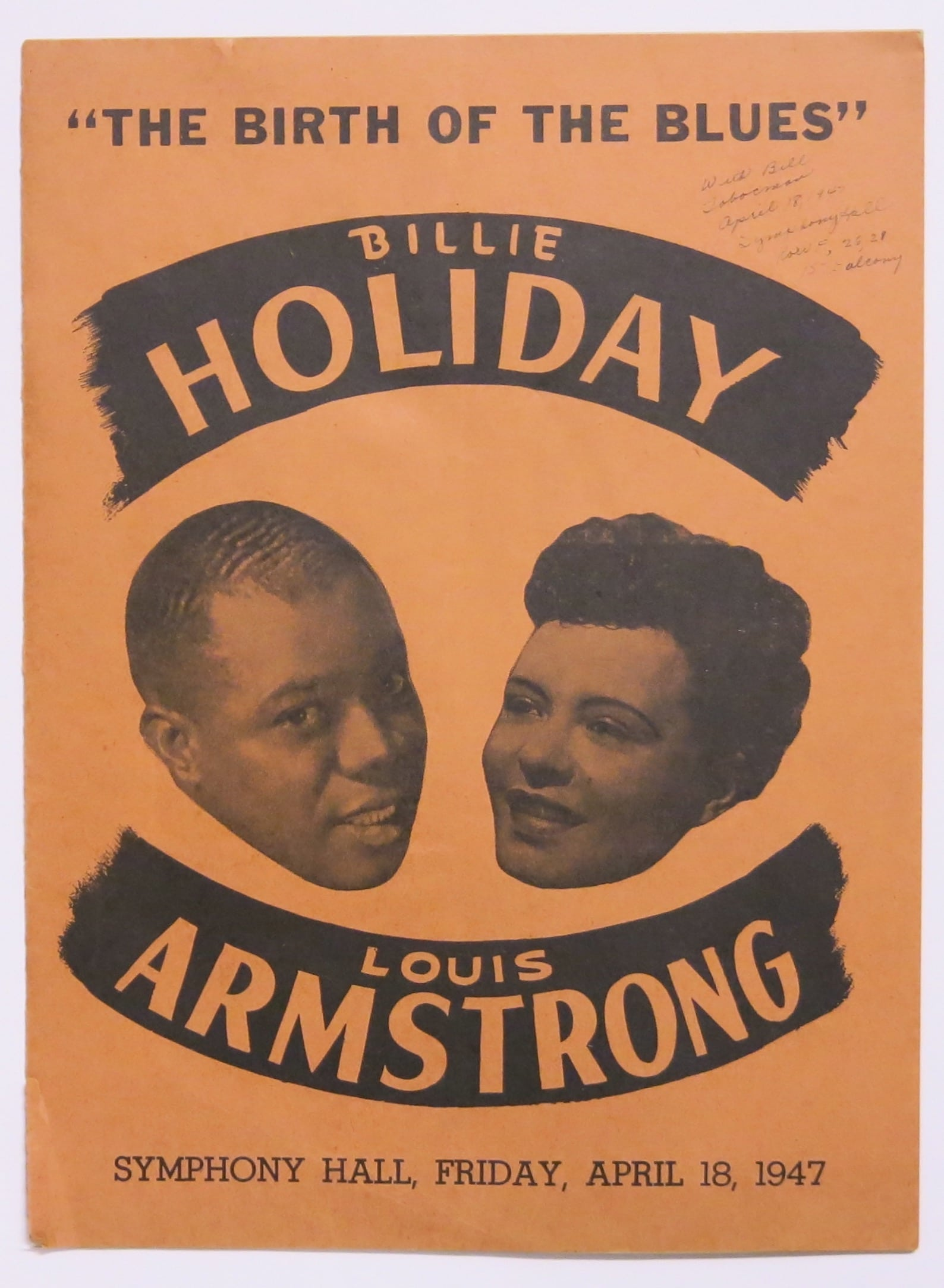 billie holiday louis armstrong concert program symphony shopping cart