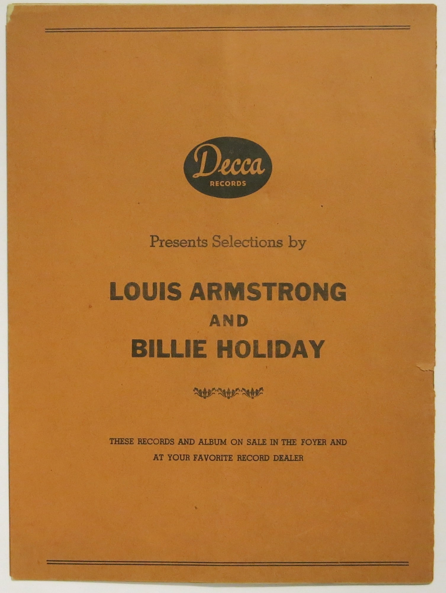 billie holiday louis armstrong concert program symphony billie holiday louis armstrong 1947 concert program symphony hall boston