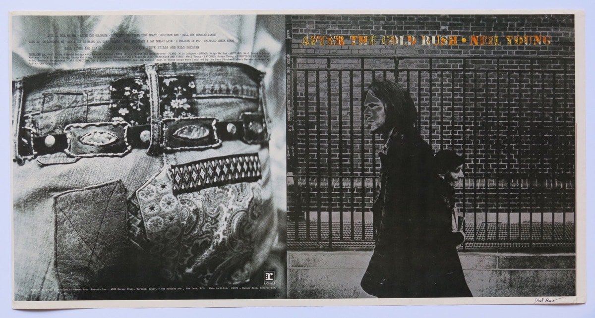 neil young  u2013 1970  u201cafter the gold rush u201d album cover proof