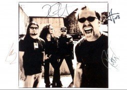 Metallica 16″ x 12″ Signed Photograph, With 2 COA's