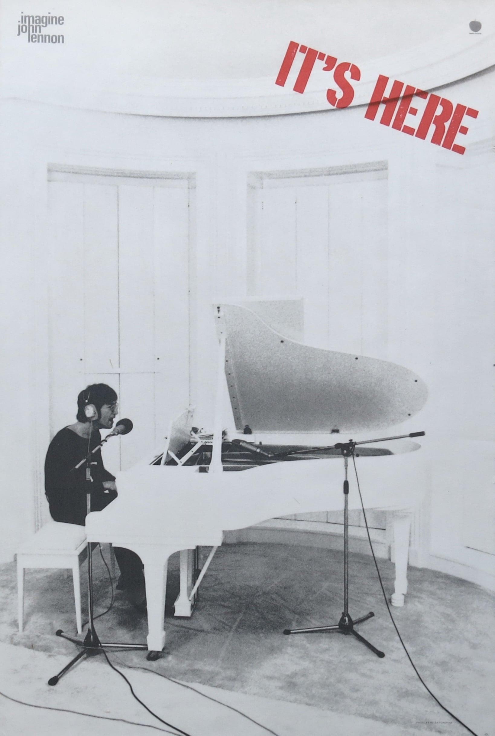 John Lennon Imagine 1971 Apple Records Promo Poster