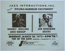 Sonny Rollins – Large 1972 New York Concert Poster