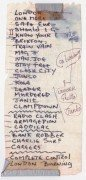 The Clash – Mick Jones Handwritten Set List & Program from 1982 Japan Tour
