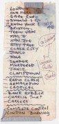 The Clash – Mick Jones Handwritten Set List & Program from 1982 Japan Tour