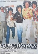 Rolling Stones – 1976 Tour Of Europe / Frankfurt Concert Poster
