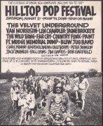 Velvet Underground, Van Morrison – 1969 Hilltop Pop Festival (New Hampshire) Concert Poster