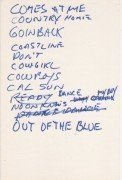 "Neil Young – Handwritten Setlist /1st Show 1983 ""Solo Trans"" Tour"