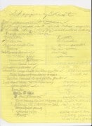 Red Hot Chili Peppers – John Frusciante & Anthony Kiedis Handwritten Shopping List