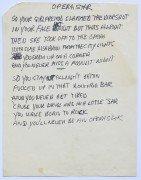 "Neil Young – Handwritten Lyric Manuscript – ""Opera Star"" From Re-Ac-Tor Album, With 2 COA's"