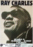 Ray Charles – 1978 German Concert Poster