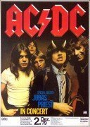 AC/DC, Judas Priest – 1979 Nuremberg, Germany Concert Poster (with Bon Scott)