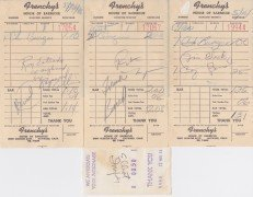 FRANK ZAPPA – 1966 Mothers of Invention AUTOGRAPHS / Pre-FREAK OUT Signed Receipts