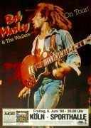 Bob Marley & The Wailers – 1980 Koln, Germany Concert Poster