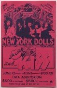 New York Dolls, Kiss – 1974 Flint, Michigan Concert Poster