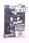 Sex Pistols,  Clash, Siouxie & The Banshees – 100 Club 'Punk Special' 1976 Concert Poster