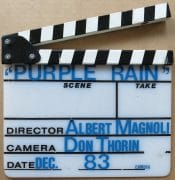 "Prince – Original ""Purple Rain"" Film Used Clapperboard (from Cinematographer's collection)"