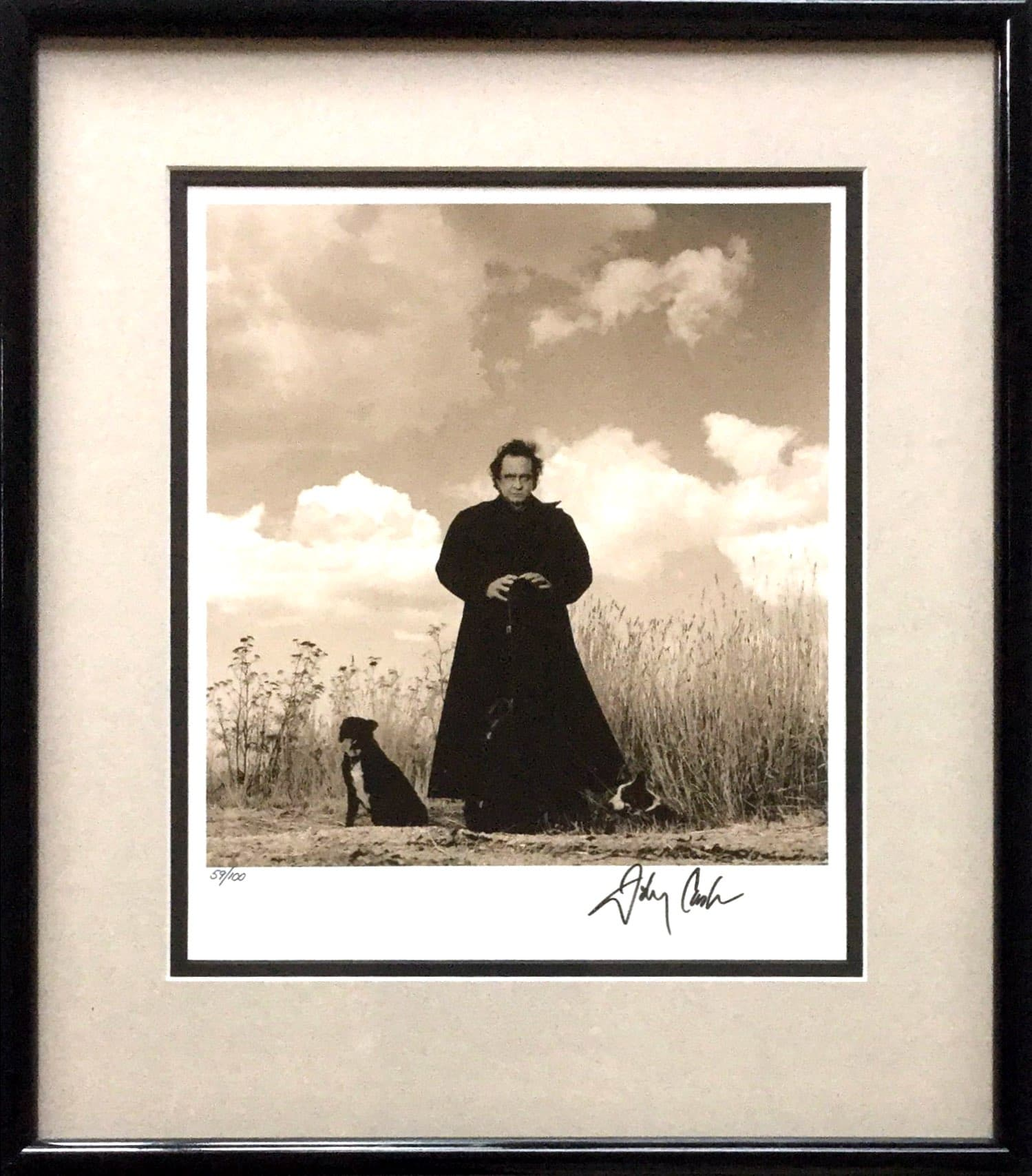 Johnny Cash Signed American Recordings Limited Edition Photograph