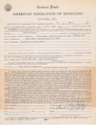 Billie Holiday – Signed 1952 Concert Contract From Tiffany Club, Los Angeles