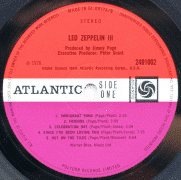 "Led Zeppelin – Previously Undocumented 1st Pressing Variation ""Led Zeppelin III"" with Led Zeppelin and Crosby, Stills, Nash & Young Labels"