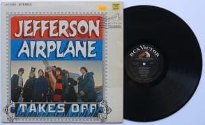 "Jefferson Airplane – Mint Orig. 1966 Black Label, Deep Groove ""Takes Off"" LP"