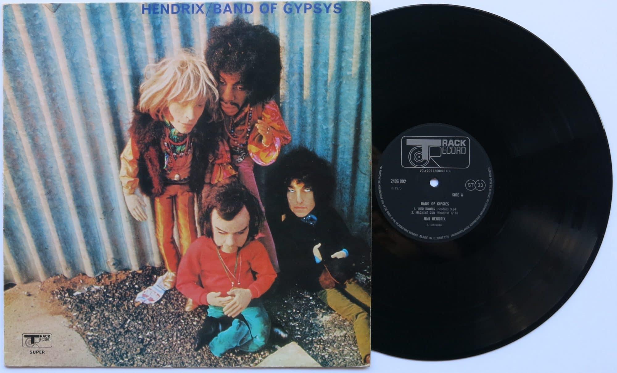 Jimi Hendrix Uk 1st Press Band Of Gypsys With
