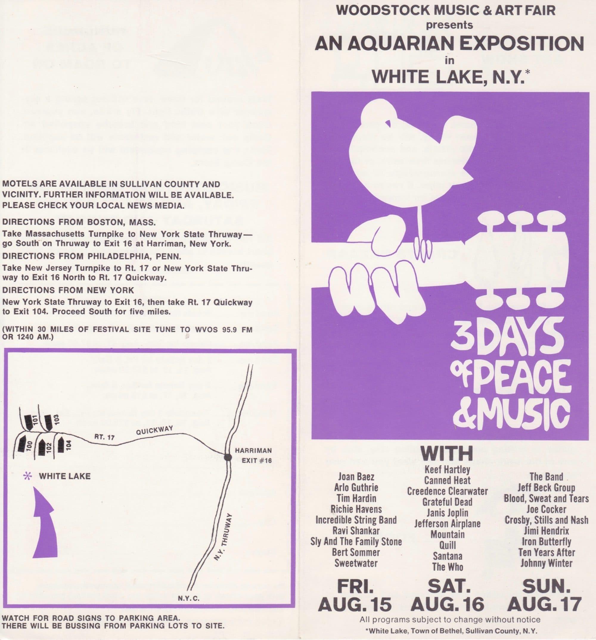 woodstock festival  u2013 1969 handbill    ticket order form