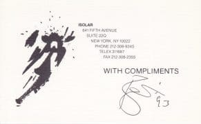 """David Bowie – Signed """"With Compliments"""" Card"""" With Roger Epperson Authentication, Lifetime Guarantee"""