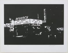 "Andy Warhol/Billy Name – ""Regency Cinema Chelsea Girls Marquee"" Signed Billy Name Serigraph"