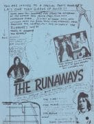 The Runaways / Joan Jett – 1977 Handbill For Party at Bomp Records with Kim Fowley, Rodney Bingenheimer, The Screamers, Weirdos, etc