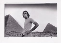 Bob Weir – Vintage Egypt Photograph Signed by Photographer Adrian Boot (Grateful Dead)