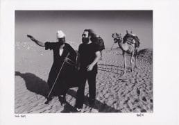 Jerry Garcia – Vintage Egypt Photograph Signed by Photographer Adrian Boot (Grateful Dead)