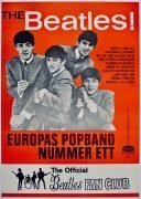 The Beatles – Rare Huge 1963 Swedish Tour/Fan Club Concert Poster