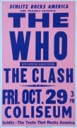 The Who & The Clash – 1982 Los Angeles Boxing-Style Concert Poster