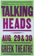 The Talking Heads – 1983 Boxing-Style Concert Poster From L.A. Greek Theatre