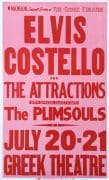 Elvis Costello & The Attractions,  Plimsouls – 1982 Boxing-Style Concert Poster