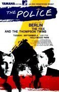 The Police, Berlin, Thompson Twins – 1983 Hollywood Park Concert Poster